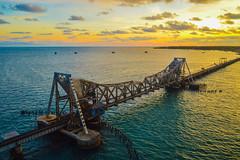 Pamban Bridge (Shanmuga Velan) Tags: rameswaram tamilnadu india pamban bridge pambanbridge sunrise weekend shanmugavelan nikond3200 ngc discoverindia