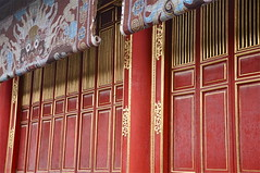 A Glimpse of Elegance (The Spirit of the World) Tags: history wall 1800s royal unescoworldheritagesite vietnam blinds restoration redwall hue emperors imperialcity historyofvietnam famoussitesinhue famoussitesinvietnam historyofhue restoredredwallonteimerialcity