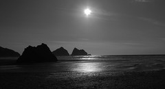 Evening Cornish Beach (DonCarlosRutter29) Tags: sunset sun white seascape black coast cornwall cornish