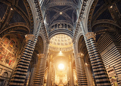 Siena Cathedral (Philipp Klinger Photography) Tags: santa travel italien light shadow italy sun art church window architecture night stars star nikon europa europe italia catholic shadows angle cathedral maria dom pillar wide kathedrale medieval ceiling altar chiesa ornament ornaments tuscany di handheld siena marble duomo toscana pillars philipp dri hdr d800 toskana cattedrale assunta marmor ultrawideangle cattedraledisantamariaassunta dcdead