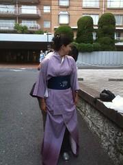 Tokyo, probando Kimono :)