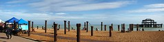 West Pier (Dominic's pics) Tags: blue sea sky panorama cloud white west green beach coast pier ruins iron brighton market hove horizon shingle cast rusted hugin