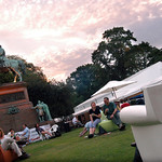 Dusk in the Gardens at the 2003 Edinburgh International Book Festival