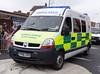 British Red Cross Renault Master Emergency Ambulance RL014 (PFB-999) Tags: carnival red cross ambulance renault master brc vehicle leds british van emergency cleethorpes grilles unit lightbars rotators pn06odr rl014
