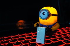 Despicable Me - Stuart (NCK pictures) Tags: light red 2 me up yellow toy key board sony stuart mcdonalds malaysia alpha slt lenovo despicable minion a55 y400 ideapad