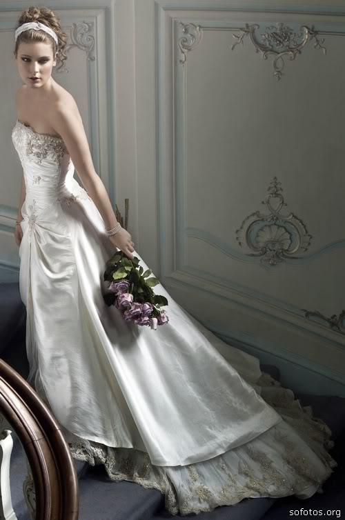 Vestido de noiva com caida