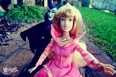 On her sixteenth birthday (NinaStallmann) Tags: pink blue sleeping beauty wheel rose dolls dress princess cosplay witch disneyland evil prince disney fairy disneyworld aurora spinning phillip walt briar curse maleficent