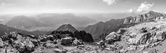 The Summit ~ Explored (intrazome) Tags: travel wild blackandwhite bw italy panorama mountain holiday como mountains nature landscape mono nikon pano panoramic alpine summit wilderness lakecomo alp grigna grigne sigma1770 grignameridionale d5100 caigrigne caigrigna