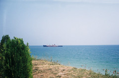 Shipwreck of Evanghelia from Costinesti (Patrasciuc Roxana) Tags: film beach fuji superia shipwreck 200 romania blacksea smena smena8 costinesti epava