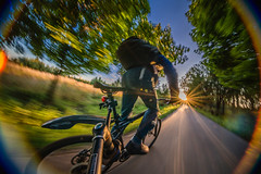 (mblsha) Tags: sunset sun bike action explore backpack icm peleng mblsha magicarm intentionalcameramovement mtcandidate