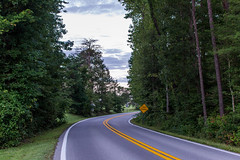Back roads (Megan Garzone) Tags: road morning trees sky tree nature clouds md nikon maryland grandparents nikkor dslr curve 50thanniversary boondocks 3100 southernmaryland easterncoast hiddenentrance curvedroad somd nikkor35mmf18 d3100 nikond3100