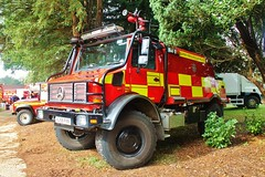 FNo554 Unimog Woking (fire photos uk) Tags: rescue station fire woking day open surrey and unimog reigate