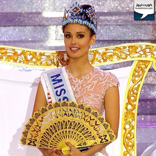 #اندونيسيا / تتويج ملكة جمال الفلبين ميغن يونغ ملكة جمال العالم لعام 2013 في حفل أقيم اليوم في جزيرة #بالي  Newly crowned Miss World 2013, Megan Young of Philippines poses on stage during the grand finale of the Miss World 2013 beauty pageant held at Bali