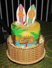 Surfer Cake (daniyellee) Tags: beach cake surfer surfing hut luau surfboard 40 tiki forty