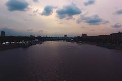 Moscow river (anastasia r) Tags: park city sunset sky sun clouds river dark evening