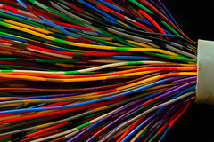 Hundred Pair (arbyreed) Tags: closeup catchycolors wire colorful close wired copperwire vividcolors telephonecable macromonday arbyreed insulatedcopperwire