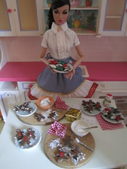 Poppy says Merry Christmas- have a cookie! (Pumpkin Hill Studios/King William Miniatures) Tags: ebay barbie etsy christmascookies fashiondolls playscale dollfood 111713 pumpkinhillstudios