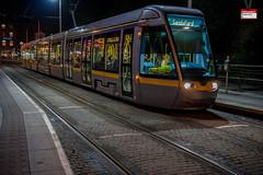 LUAS tram at St Stephens Green (PressVault.com) Tags: ireland dublin tram cobbled rails ie alstom luas sreet fingal citadis 4003 hpulling