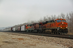 Rolling to Holiday Ks. (Machme92) Tags: railroad santafe grain tracks rail trains row bn kansascity rails cp ge freight bnsf railroads railfanning gevo railfans transcon
