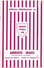 ARBROATH v HEARTS 1974-75 (bullfield) Tags: gayfieldpark arbroath hearts 1974 scotland football