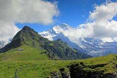 The famous Jungfrau seen from Männlichen