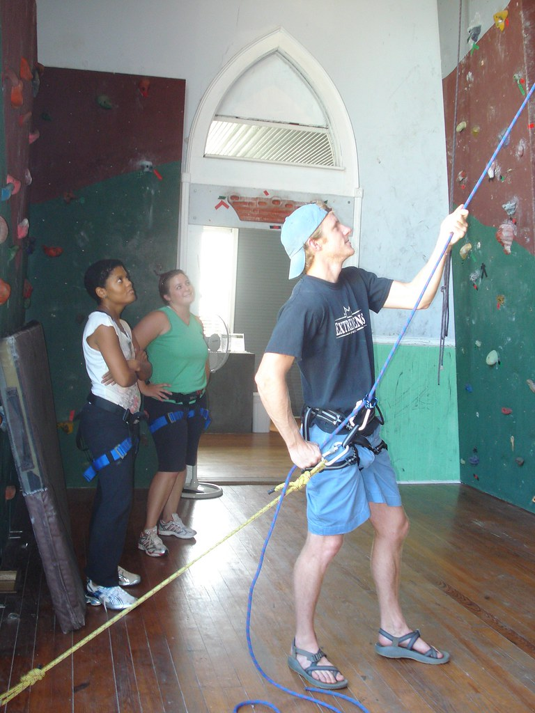 DC and staff rock climbing 016