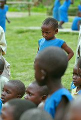 Little Frowner (cowyeow) Tags: africa school funnyface students girl kids children fun happy education funny little african young volunteering littlegirl uganda frown volunteer primary younggirl kasese funnyafrica kilembe