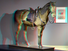 Paard Wexy 3D (wim hoppenbrouwers) Tags: 3d anaglyph stereo paard wexy redcyan stereopicture anaglyf dordrechtsmuseum wexyvanwillemiikunstkoning willemiikunstkoning horsewexy paardwexy3d
