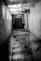 Exit #2 (bitzcelt) Tags: urban abandoned sign reflections factory creepy spooky urbanexploration horror exit horrormovie locked exitsign urbex nikkor50mmf14 nowayout walkingdead zombieapocalypse bitzcelt 0613farmfactory