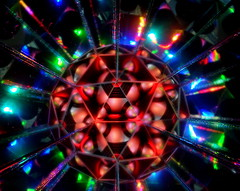 Blown away (Andy Coe) Tags: light abstract art reflections painting lights colours sony mirrors balls kaleidoscope sphere alpha rgb a77