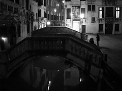 Venice by Night 3 (bjorbrei) Tags: bridge venice italy reflection water night reflections canal italia bridges venise venecia venezia venedig oldcity diamondclassphotographer flickrdiamond