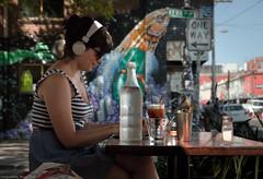 Switched On (Ranga 1) Tags: urban girl canon graffiti fitzroy australian streetphotography australia melbourne streetscene victoria headphones suburbs australianlandscape urbanlandscape brunswickstreet davidyoung kerrstreet innersuburbs innermelbourne ef24105mmf4lusm canoneos5dmarkii