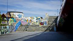 Arte urbano junto al rio Guadalquivir