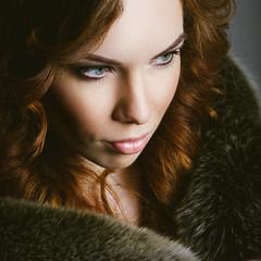 Karina (KirillSokolov) Tags: portrait girl ginger nikon noir russia 85mm redhead nikkor  2014    8514d   porusski d3s  85 3 sokolovkirill2014