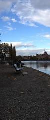 (Sentti) Tags: sky lake germany bench bank lone konstanz constance