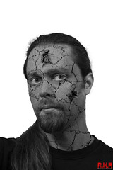 cracked face b&w (Richard Hayward Photography) Tags: uk portrait england selfportrait composite photoshop canon manchester photography eos photo image zombie picture crack layer hd hayward hq peel fx effect compositing selfie rhp 600d crackandpeel canoneos600d2richardhaywardphotographyrichard