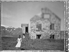 Windswept (Bastiank80) Tags: camera old bw woman white house black abandoned film field analog polaroid iceland large windy negative windswept instant 4x5 sheet format 55 expired wista bastiank