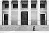 (Sonia Montes) Tags: madrid blackandwhite bw black blancoynegro puerta gente almudena streetphotography catedral urbana columnas byw