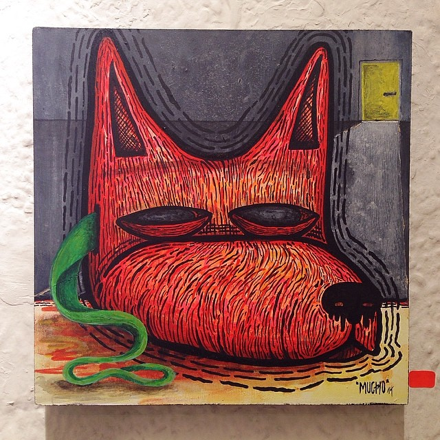 """Leave The Dog Mask @ The Yellow Door"" de Mucho @theartofmucho #artinlima #arteenlima #arte #art #igerseru #igers"