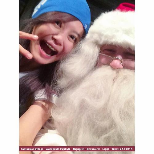 Santa Claus is REALLY! 聖誕老公公真的在這!!! #Joulupukki 🎅🎉✨