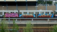 Graffiti (oerendhard1) Tags: urban streetart art train graffiti rotterdam metro painted crew vandalism ret mach hotus
