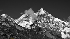 A himalayan peak, study in monochrome.( 10.8.2015) (draskd) Tags: blackandwhite monochrome blackwhite shimla simla manali rohtangpass himalayas himalayanpeak himalayanlandscape explore100815 explore10815