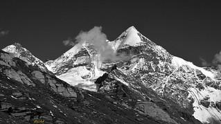 A himalayan peak, study in monochrome.( 10.8.2015)