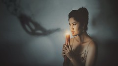 221/365 Extinguish (Katrina Y) Tags: selfportrait shadow light smoke candle manipulation monster ghost 365project 2017 art artsy artistic creative conceptual concept surrealphotography self mood dark