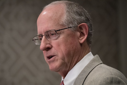Rep. Mike Conaway speaks to media after a meeting with House GOP members.
