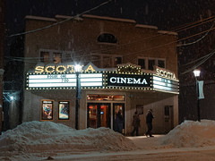 When the Movie's Over (fotofish64) Tags: cinema scotia scotiacinema movie moviehouse marquee word sign lightedsign bulbsign smalltown village snowfall snowstorm snow winter nightlife building architecture schenectadycounty capitaldistrict outdoor nightphotography night pentax pentaxart pentaxda1855mmwrlens kmount ks2 americana newyork
