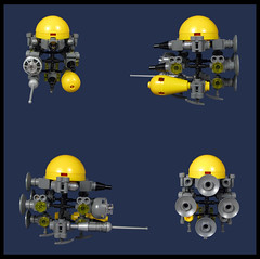 The Survey Ship. 'Cubonic Flayed' (Karf Oohlu) Tags: lego moc microscale scifi microspacetopia syrveyship