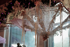 Lace (Hynexdoll) Tags: pink light white floral umbrella ribbons lace frilly