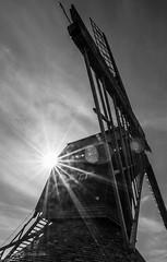 Stevington Windmill (grbush) Tags: bw sun windmill monochrome blackwhite sony bedfordshire stevington stevingtonwindmill tokina1116mmf28atxpro sonyslta77