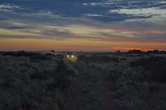 Karoo dusk (Lourens SA) Tags: sunset sky night southafrica lights nikon dusk farm colourful karoo prieska d7000